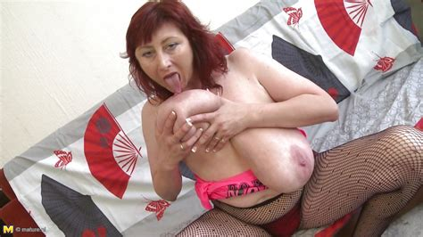 Jana P In Redhead Mature Plays With Her Jugs HD From Mature Nl