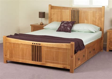 home design vintage and modern wooden with wood bed