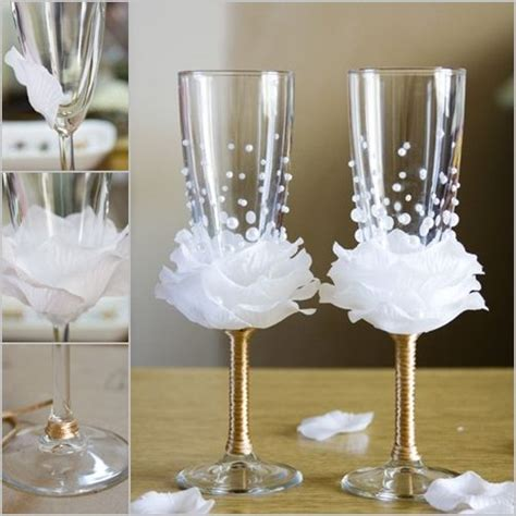 how to diy flower bead decorated wine glasses food