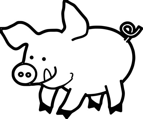 The Pig Coloring Pages Pig Piglet Coloring Page Wecoloringpage