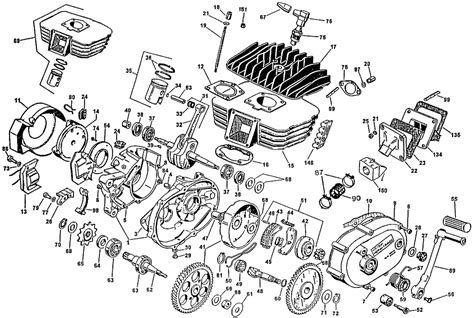 Small 2 Cycle Engine / Exploded Parts View