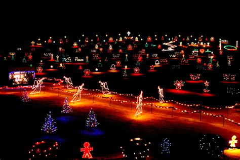 the la salette shrine light display in enfield