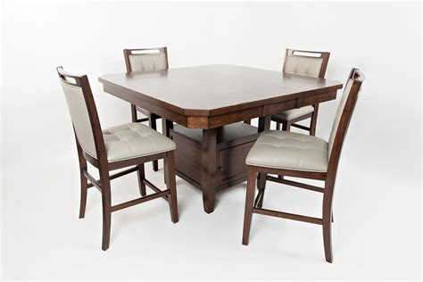 kitchen table with storage base high low table with storage base by jofran wolf furniture