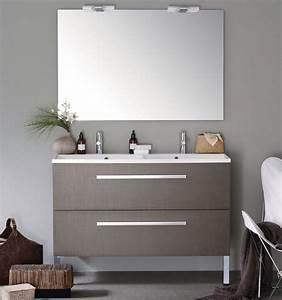 Meuble sous plan alterna woodstock 3700983 120cm 2 tiroirs for Meuble salle de bain alterna