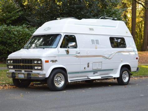 chevy trans van vintage camper van  sale