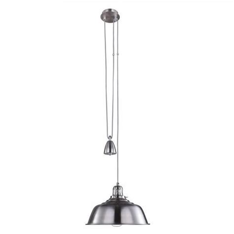 fisherman rise and fall pendant light satin chrome from