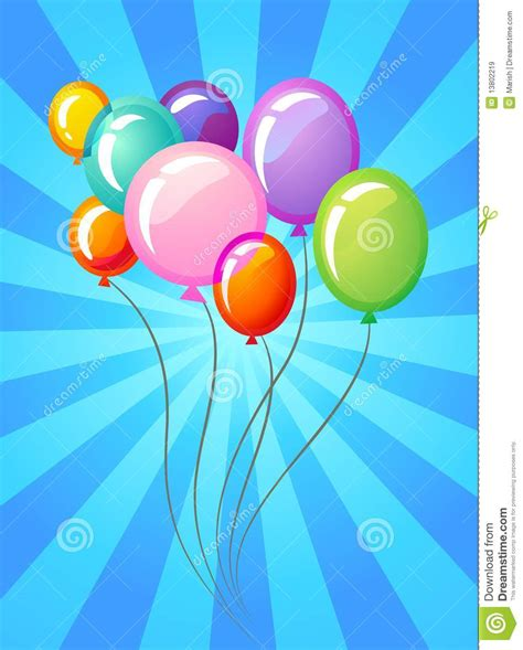party balloons template royalty  stock images image