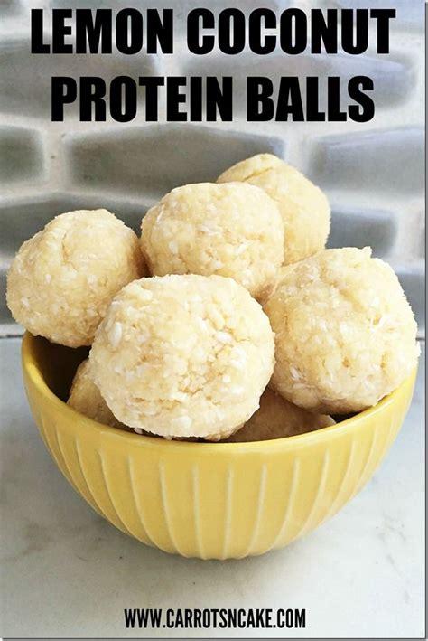 easy lemon coconut protein balls httpcarrotsncakecom