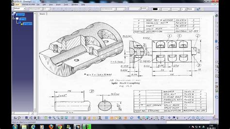 catia  draftingpartial section viewdetail viewiso