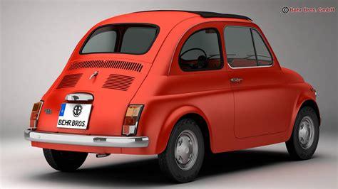 Buy Fiat 500 R 3d Model