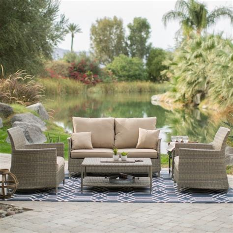 belham living all weather wicker conversation set