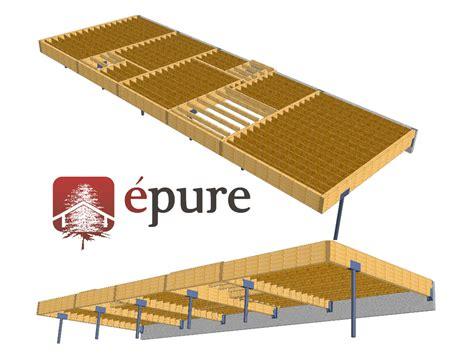 vue 3d structure plancher maison ossature bois firmi epure bois