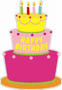 Pink Birthday Cake Cartoon
