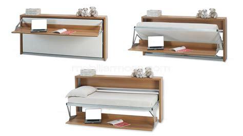 bureau dans une armoire lit relevable escamotable rabattable