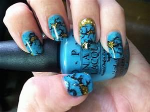 Turquoise Stone Nail Art Tutorial - YouTube