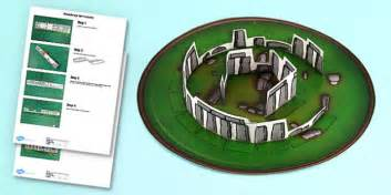 stonehenge paper model printable activity teacher