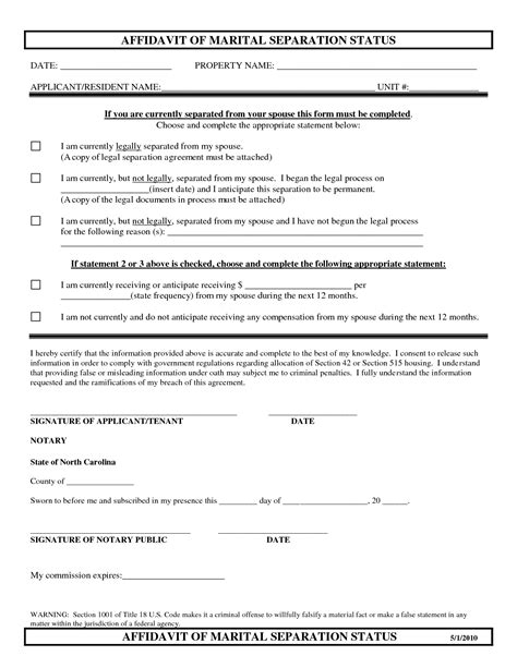 separation agreement template nc best photos of sle separation agreement carolina forms separation agreement in