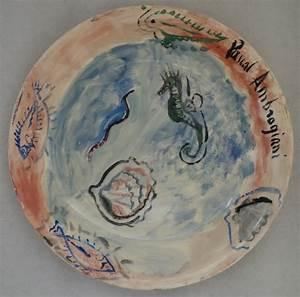 Assiette Originale Moderne : pascal ambrogiani fond marin assiette originale sign e art moderne ~ Teatrodelosmanantiales.com Idées de Décoration