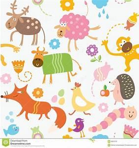Tiere Für Kinder : nahtloses muster f r kinder tiere vektor abbildung ~ Lizthompson.info Haus und Dekorationen