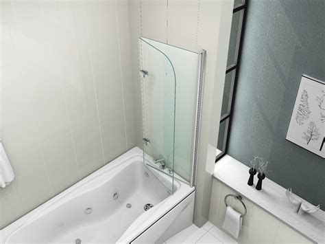 foldable shower 180 176 pivot glass over bath 2 fold folding shower screen bath door panel seal ebay
