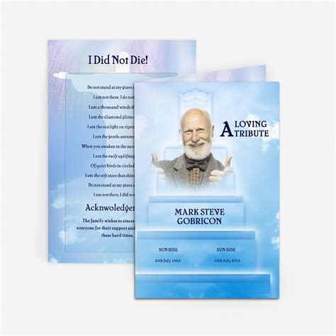 stairway  heaven funeral card funeral pamphlets