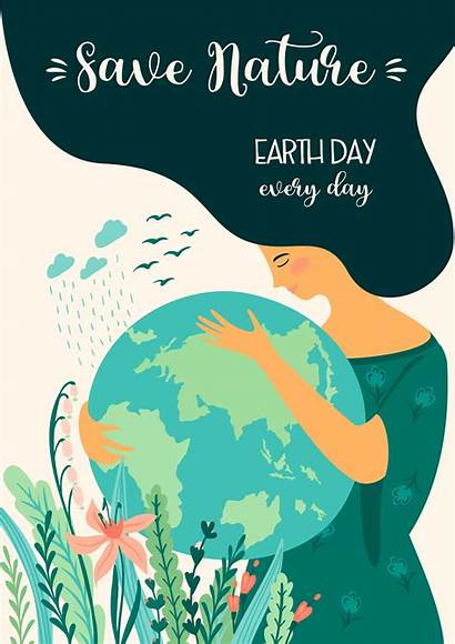 Earth Save Nature Vector Template Element Poster