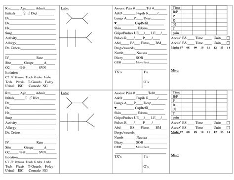 Nursing Templates by Brain Sheets For New Nurses Scope Of Work Template