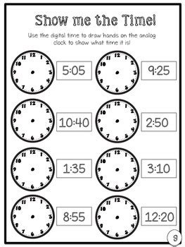 telling time packet  grade common core aligned tpt