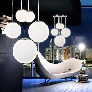 Designer Lampen Wohnzimmer : 5 flammige kugel lampe h nge leuchte satiniertes glas esszimmer pendelleuchte ebay ~ Sanjose-hotels-ca.com Haus und Dekorationen