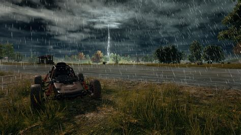 Playerunknown's Battlegrounds - Buggy and Rain Full HD 壁纸