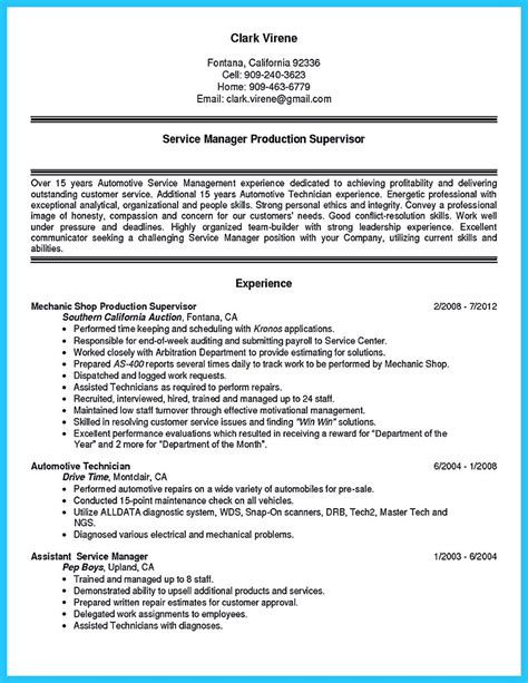 Mechanic Resume Summary by Delivering Your Credentials Effectively On Auto Mechanic