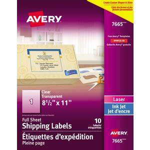 Store locator avery 07665 for Avery transparent labels