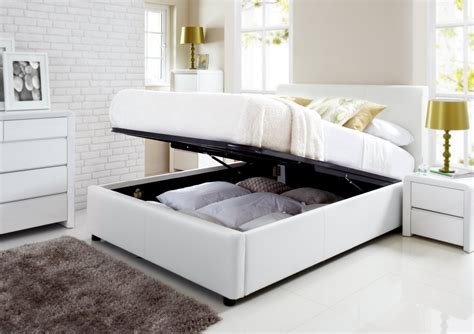 henley white leather ottoman storage bed ottoman beds beds