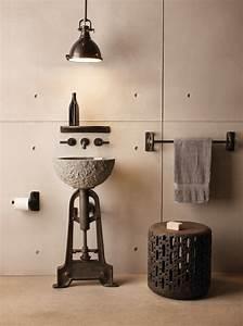 Salle De Bain Style Industriel : 10 id es d co pour salle de bains industrielle blog de ~ Dailycaller-alerts.com Idées de Décoration