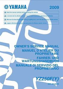 Yamaha Yz250 Y 2009 Owner U2019s Manual