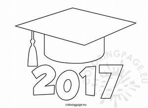2017 Graduation Cap Clip Art Sketch Coloring Page