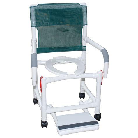 rolling shower chair dual drop arms plus footrest careprodx