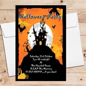 postcard wedding invitations 10 personalised haunted house party invitations n8