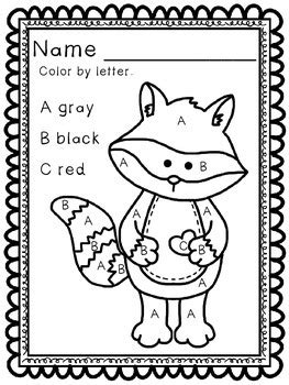chester raccoon color  number letter  shape   day