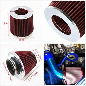 3 U0026quot 75mm Red Universal Car Suv Inlet Cold Air Intake Cone