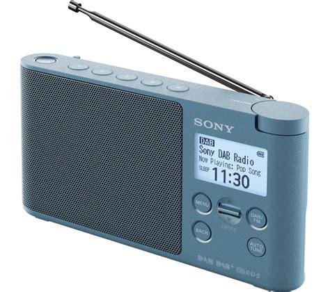 sony dab radio sony xdr s41d portable dab fm clock radio blue deals pc world
