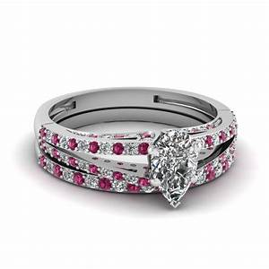 buy affordable pink sapphire wedding ring sets online With pink sapphire wedding ring sets