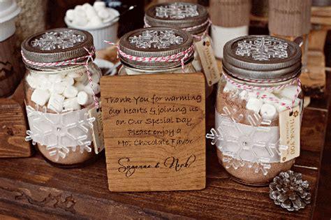 Mason Jar Wedding Favors Hot Chocolate Mix We Know How