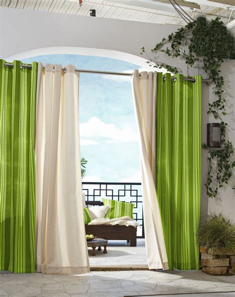 blind curtains green white color curtain