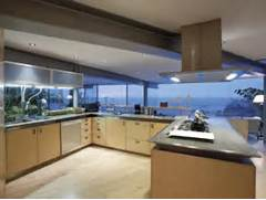 Beautiful Home Design With Modern Vintage Interior Ocean View Glass House Kitchen Interior Design With Beautiful Pacific Ocean View