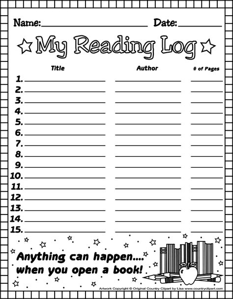 1st grade reading log forms elementary news