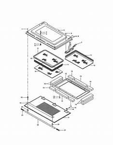 Door  Upper And Lower Diagram  U0026 Parts List For Model