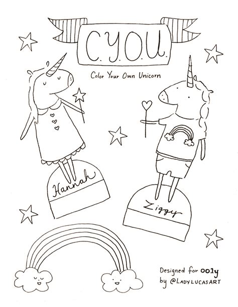 cut  color   unicorn coloring page ooly