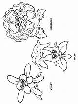 Daisy Coloring Scout Flower Friends Petal Scouts Petals Lupe Garden Flowers Template Activity Daisies Makingfriends Sheets Sheet Sketch Bride Princess sketch template
