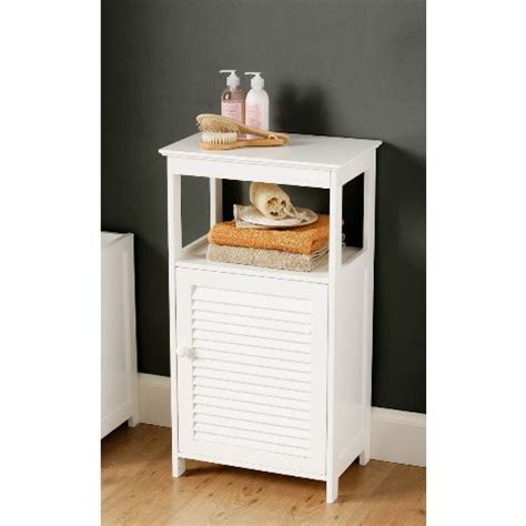 white bathroom floor cabinet  shelf furniture  fashion